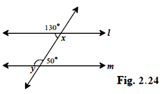Q4 In figure 2 24, measures of some angles are shown  Using the