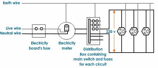 Describe Domestic Electric Circuit With The Help Of A Diagram