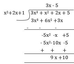 Divide (3x^4+2x^3-x^2+2x-9)/(x+2) | Mathway