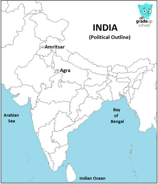1) On the given political outline map of India (on page 15 ...