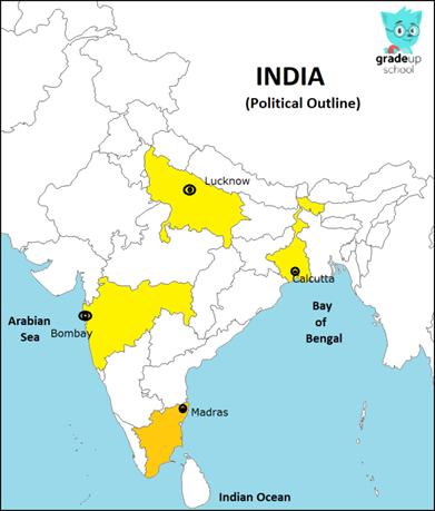 Locate the following in India map:1. Calcutta (Kolkata) 2 ... on seaside on map, highway on map, banaras on map, lincoln city on map, redmond on map, tillamook on map, karachi on map, gold beach on map, oshkosh on map, roseburg on map, silverton on map, goa on map, pizza on map, bombay on map, lahore on map, cascadia on map, mysore on map, calcutta on map, medford on map, chittagong on map,