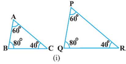 EX 6 3 Q1 State which pairs of triangles in Fig  are similar